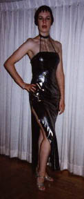 photo of a woman in a black dress