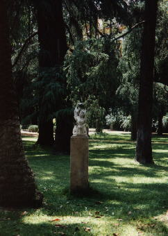 photo of a stone sculpture in the park