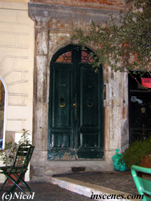 photo of antique entrance of a restaurant