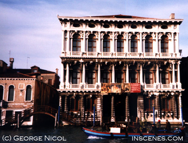 photo of antique facade of a building in Venice