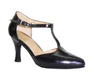 photo of a black women's shoe