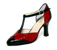 photo of black&red women's shoe